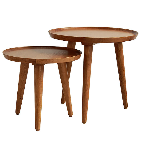 TWO ROUND SIDE TABLE