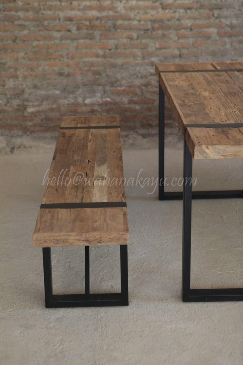 dev recycled dining table wahana kayu