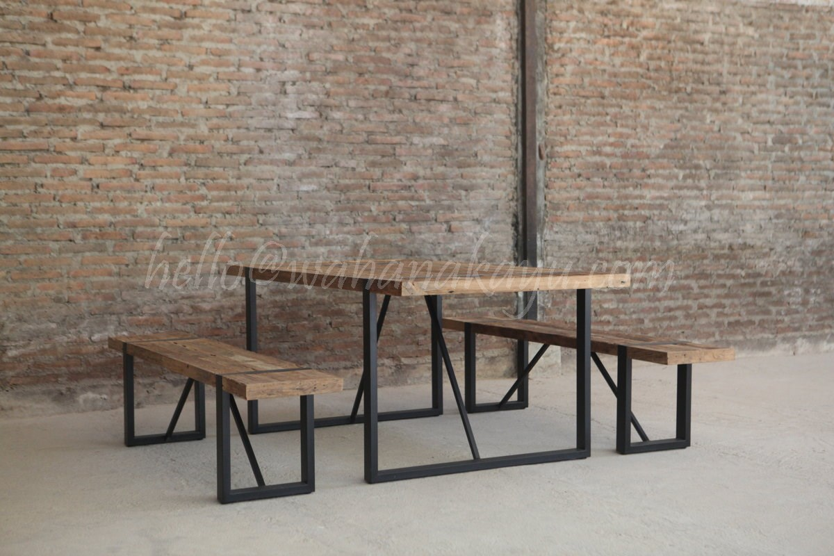 dev recycled dining table wahana kayu